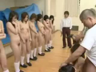 japanilainen, koulutytöt, under