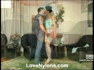 Emmie And Adam Passionate Pantyhose Vid