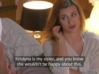 Māte krūtainas blondīne billie zvaigzne jāšanās viņai sisters huband