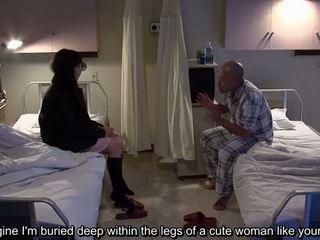 Subtitled uncensored bizarno bolnišnica japonsko drkanje