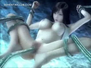 Anime Hottie Fucked Underwater By Long Tentacles