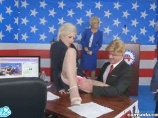 Donald Trump And Hillary Clinton Fucking Bernie Sanders And Megan Kelly In Presidential Debate Parody