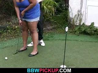 Big ebony chick gets doggystyled