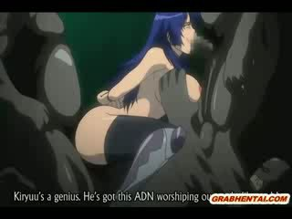 Suženjstvo hentai bigboobed groupfucked s geto monsters animirano