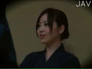 japoński, podglądanie, masaż