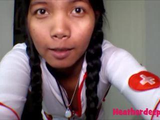 18 week zwanger thai tiener heather diep verpleegster deepthroat
