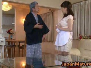 Zralý japonská žena souložit trubka