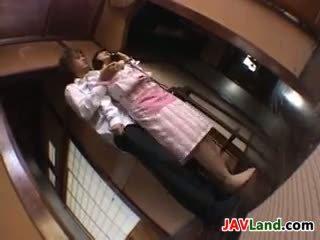 japanisch, große brüste, finger
