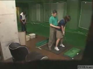 Zeer handen op japans golf lesson