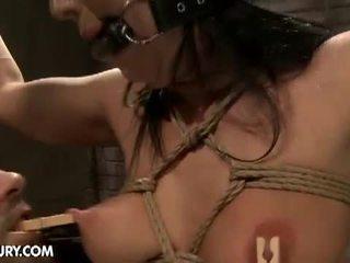 Submissive slut in pain and pleasure