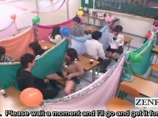 Subtitled japāna schoolgirls klasesistaba masturbation cafe