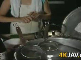 Възрастни японки момиче getting прецака