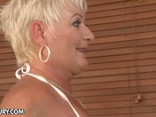 Old And Young Lesbian Love: Lesbian joy in the jacuzzi room