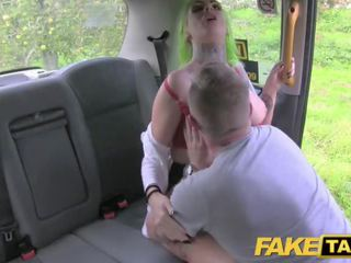 Fake Taxi Tattoos big tits and squirting pussy blowjob lips