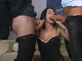 Sofia Gucci fucked by two guys