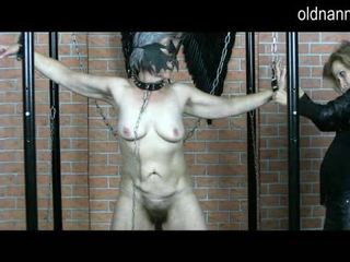 Old busty granny playing with skinny girl Video