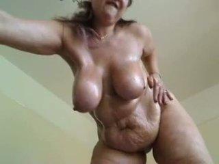 bröst, knubbig, bigtits