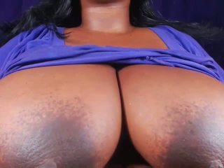 tieten, grote borsten, zwart en ebony