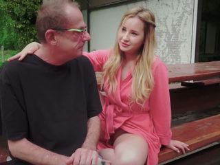 Rumaja daughter fucked for disturbing step old dad from