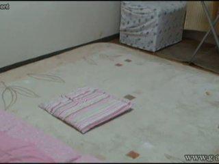 Peeping japanska flicka dusch