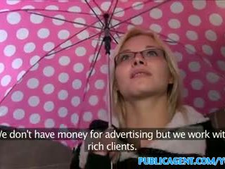 PublicAgent Sexy glasses babe fucks on...
