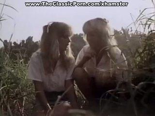 คลาสสิค โป๊ ใน the ป่า ด้วย two ผู้หญิงหลายคน