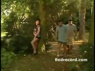 mmf, pornstars, forest
