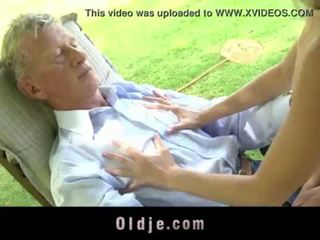 Teenie schoolgirl swallowing cum outdoor doggy fucking old cock <span class=duration>- 6 min</span>