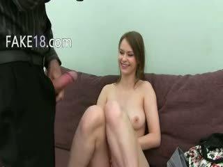 brunette, webcam, first time