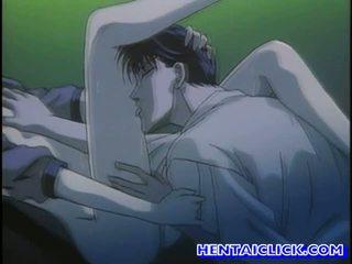 Virgin hentai guy getting zijn lul sucked
