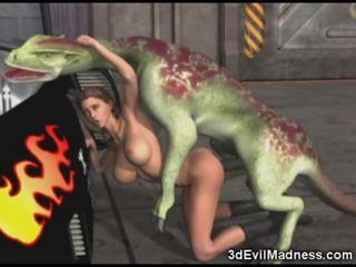 3d vajzë impaled nga jashtëtokësor dragon
