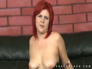 Redhead Floppy Tits Babe Rough Scene