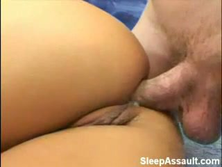 金發 性交 在 她的 屁股 而 睡眠