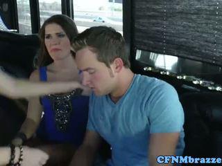 Abby kereszt tugging fasz -val friends
