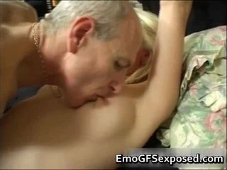 Old Papy Fucking Juvenile Tattooed Amateur Wife