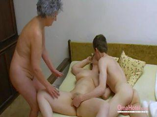 Omahotel Old Threesome Hairy Mature Masturbation: Porn 0d