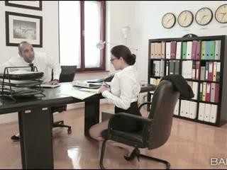 Busty babe Valentina Nappi office fuck