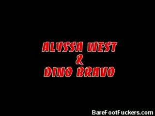 Alyssa West Gives A Nasty Footjob