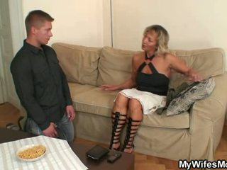 She Finds Him Shafting Her Old Mother