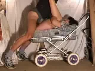 Mature mom hot fuck in Stroller Video