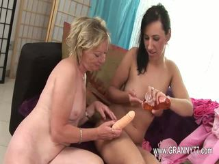 lesbian, dildo, mature