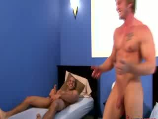 Gay jocks loves stroking his cock in the company of another jock