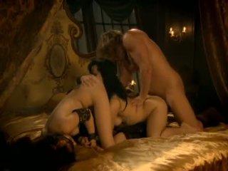 sexo grupal, áspero, lambida