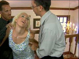 Alana evans gets beide kant sperma schot