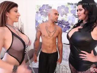 ملك و angelina castro dominate sara jay المرأة الجميلة كبيرة مجموعة من ثلاثة أشخاص <span class=duration>- 2 min</span>