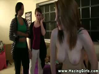 Hot nude lesbos get clit stimulation during pledging