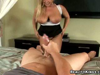 Busty Momma Rachel Love Sucks On Monster Schlong Then Rides It Hard