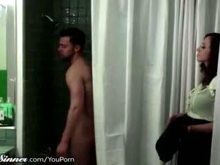 sărutat, feminin prietenos, duș