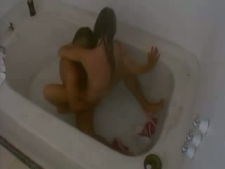 Hardcore neuken in badkamer