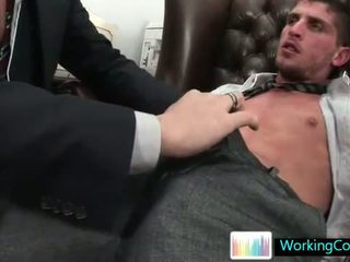 Shane sucking and fucking his future boss